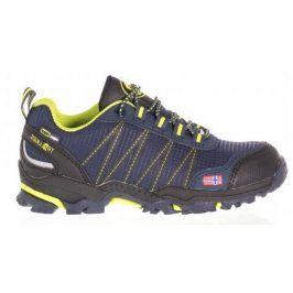 Trollkids Chlapecká outdoorová obuv Trolltunga Hiker Low - modro-žlutá