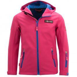 Trollkids Dívčí softshellová bunda Oslofjord - růžovo-modrá