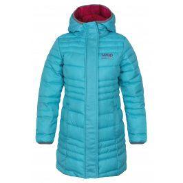 LOAP Dívčí prošívaný kabát Urzika - tyrkysový