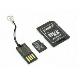 Kingston 11651 Paměťová karta microSDHC Class 10 32GB + adaptér + microSD čtečka Gen2 class 10