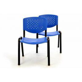 Garthen 40849 Sada 2 x stohovatelná plastová kancelářská židle - modrá