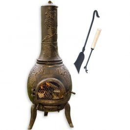 Tuin TERA 1381 Venkovní zahradní krb litina 120 cm - bronz