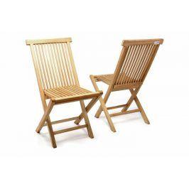 Divero 2255 Skládací židle z týkového dřeva, 2 kusy
