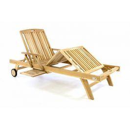 Divero 47295 Luxusní dřevěné lehátko - týkové dřevo