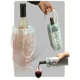 Transparentní chladič lahví - Červená
