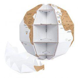 Stírací mapa - globus