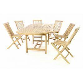 Divero 60404 Zahradní nábytek z teaku