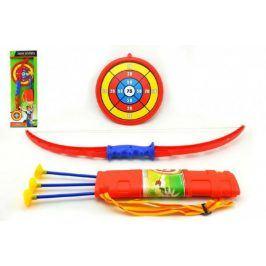 Bambilon Luk 71cm +3 šípy v pouzdře + terč plast v krabici
