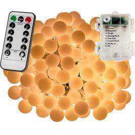 VOLTRONIC® 67303 Párty osvětlení - 10 m, 100 LED diod, teple bílé, na baterie