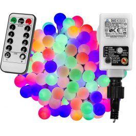 VOLTRONIC® 67302 Párty osvětlení - 5 m, 50 LED diod, barevné + ovladač