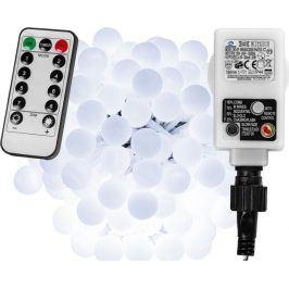 VOLTRONIC® 67301 Párty osvětlení - 5 m, 50 LED diod, studeně bílé + ovladač