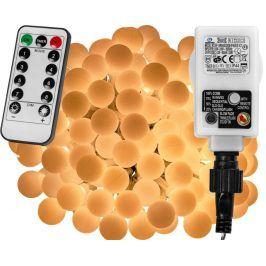 VOLTRONIC® 67300 Párty osvětlení - 5 m, 50 LED diod, teple bílé + ovladač