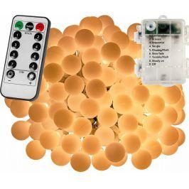 VOLTRONIC® 67297 Párty osvětlení - 5 m, 50 LED diod, teple bílé, na baterie
