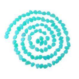 Sada svítících kamenů - 100 kusů - modrá