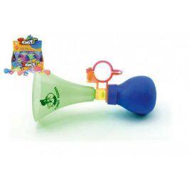 Klakson trumpeta na kolo plast 14cm asst 3 barvy 12ks v boxu