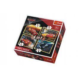 Auta/Cars 3 Disney Puzzle 4v1 v krabici 28x28x6cm
