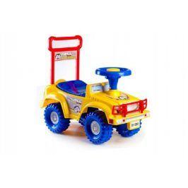 Teddies Yupee 47455 Odrážedlo auto žluté 53,5x48,3x26cm v krabici od 12 do 35 měsíců