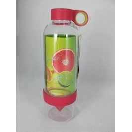 Láhev na pití s lisem na citrusy - růžová