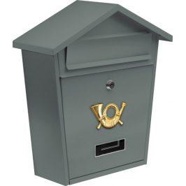 Vorel Poštovní schránka se stříškou - šedá