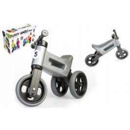 Teddies Funny Wheels Sport 2v1 šedé s gumovými koly