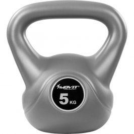MOVIT® 5 kg Kettlebell šedá