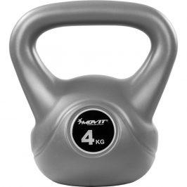 MOVIT® 4 kg Kettlebell šedá