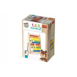 Wooden Toys Počítadlo dřevěné v krabičce 25,5x12,5x33,2cm 18m+