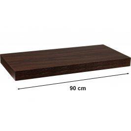 STILISTA VOLATO 31071 Nástěnná police - tmavé dřevo 90 cm