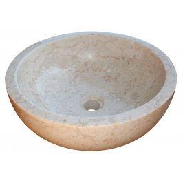 Indera Gemma 501 Ø45 cm Cream Kamenné umyvadlo leštěný mramor