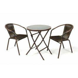 Garthen 35216 Zahradní balkonový set skládací bistro stolek + dvě židle