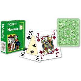 Modiano 31300 100% plastové karty 4 rohy - Světle zelené