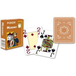 Modiano 2097 100% plastové karty 4 rohy - Hnědé