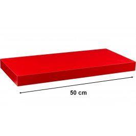 STILISTA VOLATO 31042 Nástěnná police  - matná červená 50 cm