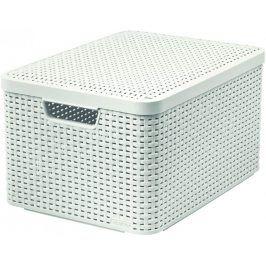 CURVER 41119 Košík box s víkem - L - krémový