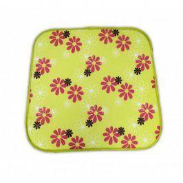 sun garden SABA 30330-220 Sedák na křeslo - zelený s květy