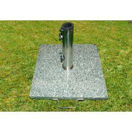 Garthen 770 Stojan na deštníky slunečníky žula/nerezová ocel 25 kg