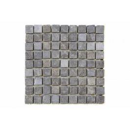 Divero Garth 2006 Mramorová mozaika - 1 m2, černá/šedá - 30x30 cm