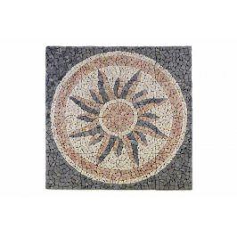 Divero Garth 765 Mramorová mozaika - motiv slunce 120x120 cm