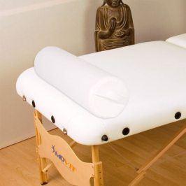 MOVIT Polštář pro masážní stůl bílý kožený 68 válec