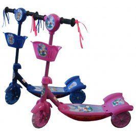 CorbySport 34875 koloběžka dětská 3 kolečka - RŮŽOVÁ