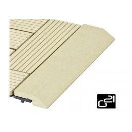 G21 Cumaru 27715 Přechodová lišta  pro WPC dlaždice 30x7,5 cm rovná