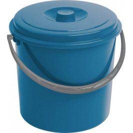 Curver 03206-287 kbelík s víkem modrý 10 l