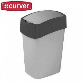 CURVER FLIPBIN 31346 Odpadkový koš 10l - šedý