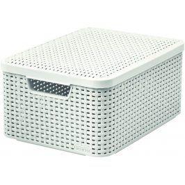 CURVER 41118 Košík box s víkem - M - krémový