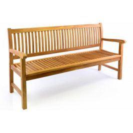 DIVERO 34978 Zahradní lavice 3-místná masiv 180 cm