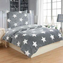 Jahu Mikroplyšové povlečení STARS GREY 140x200 70x90