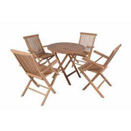 Divero 2298  zahradní skládací nábytek z týkového dřeva
