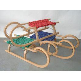 CorbySport 32618 Sáně 110cm dřevěné - rohačky - modré