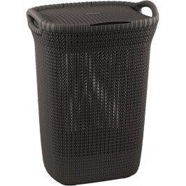 CURVER KNIT 41078 Koš na prádlo s víkem koš na prádlo 57L - hnědý