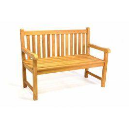 Divero 35180 Zahradní lavice 2-místná masivní 120 cm